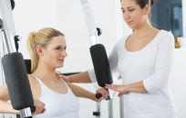 Woman does excersises as part of her spine alignment therapy in Whitianga